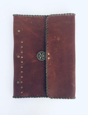 Hand stitched leather photo album
