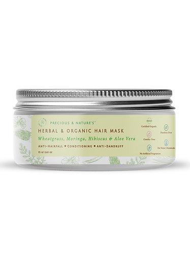 Wheatgrass, Moringa, Hibiscus & Aloe Vera Hair Mask