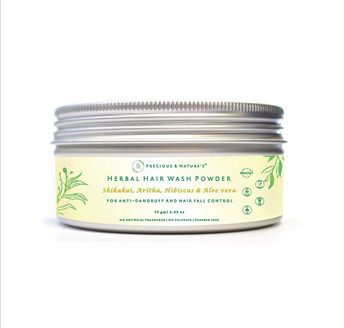 Shikakai, Aritha, Hibiscus & Aloe Vera Hair wash powder
