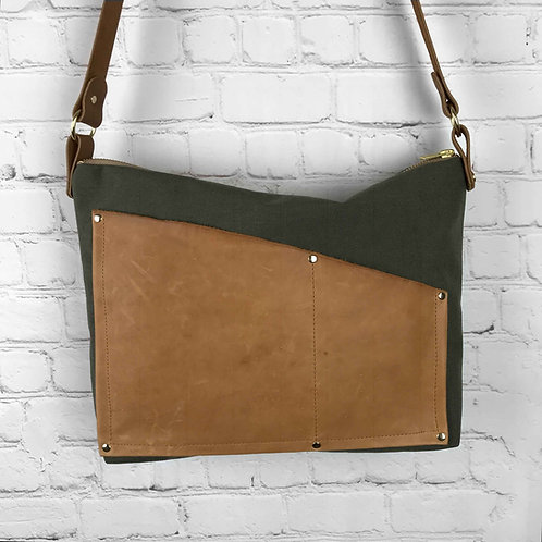 Crossbody Purse | Leather Accents