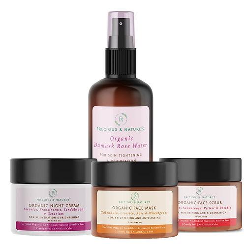 Organic Skin Brightening & Hydration Kit