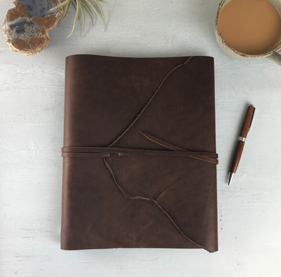 custom-brown-leather-binder-personalized