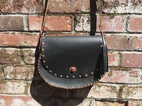 Leather Purse | Black & Copper