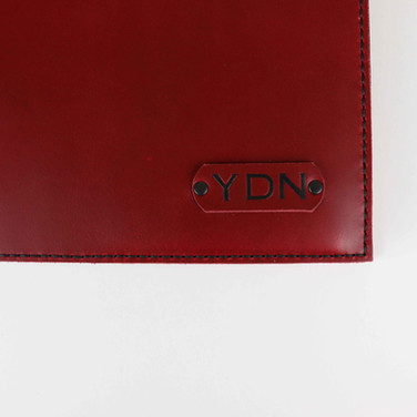 custom-intial-red-leather-stitched-cover