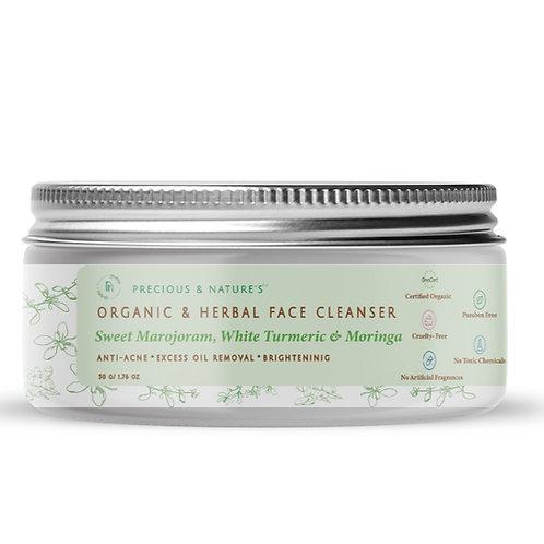 Sweet Marjoram, White Turmeric & Moringa Herbal Cleanser for Oily Skin