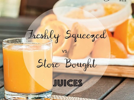 Freshly squeezed v.s. Store bought juices