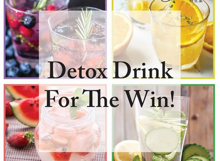 Detox drinks for the win!