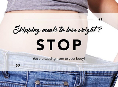 Stop skipping meals to lose weight!