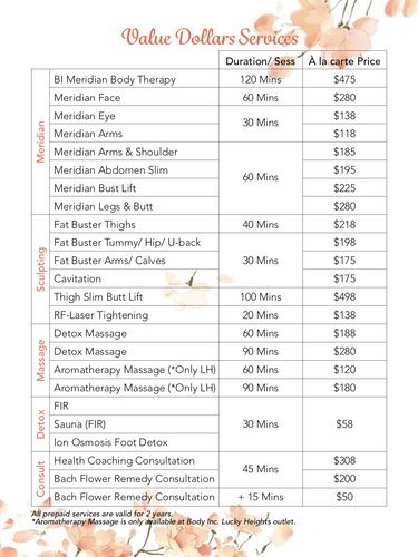 Body Inc. Value Dollars Package