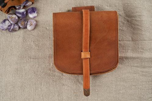 Bæltetaske i kernelæder