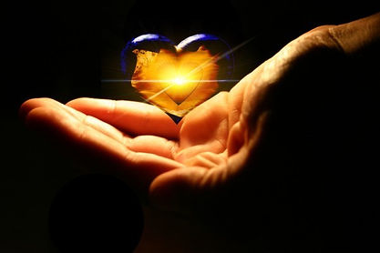Reiki heart in hand