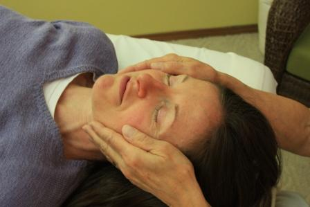 Soothing Reiki on side of head