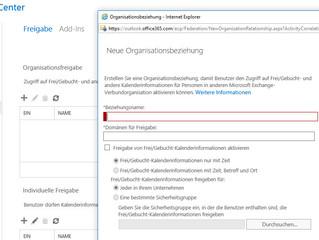 Raumpostfächer über zwei Organisationen mit Office 365 teilen