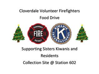 Cloverdale Volunteer Firefighters Food Drive