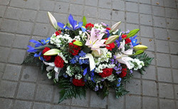 Centro de flores de difunto