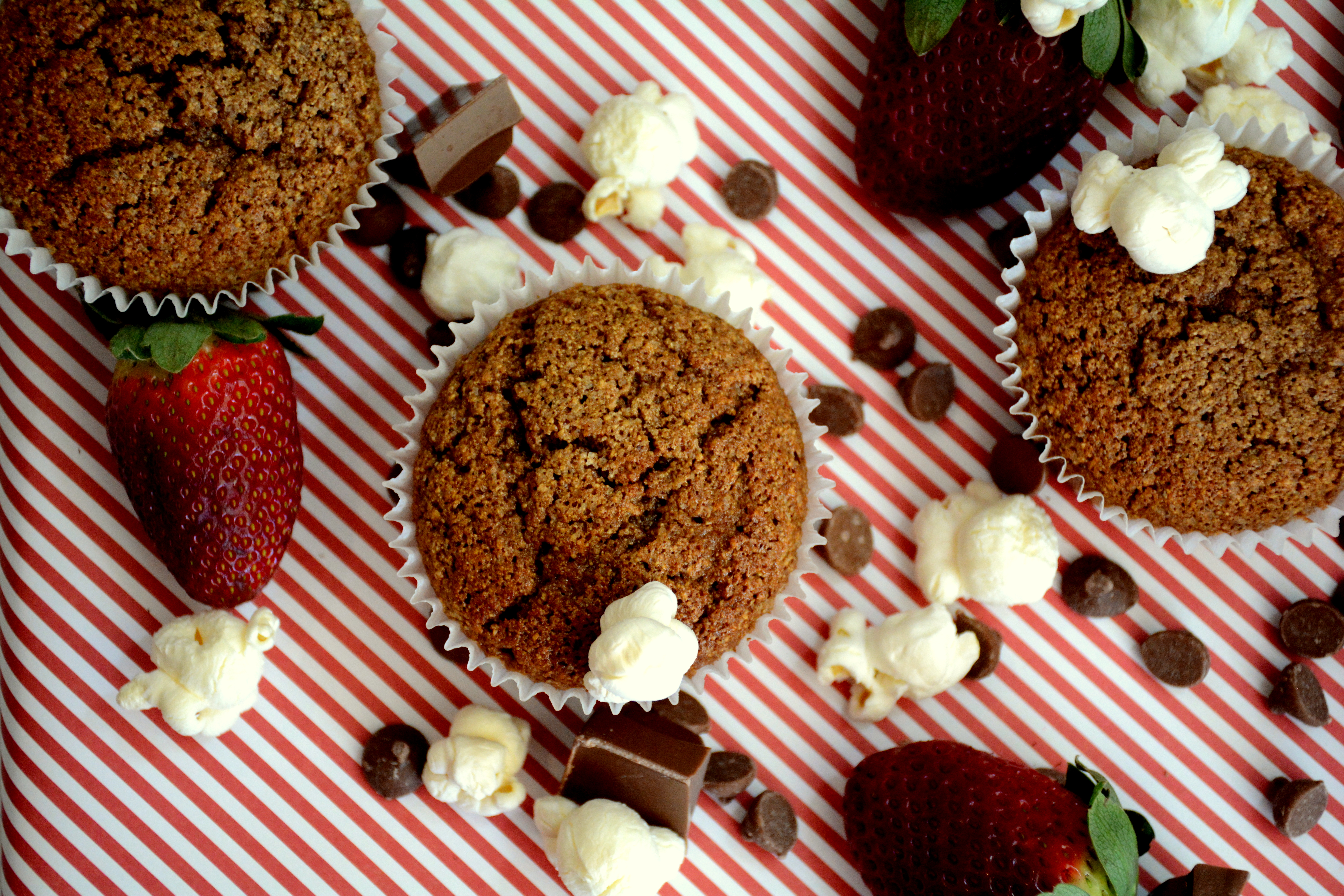 King Valley Popcorn Flour Chocolate Muffins