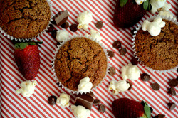 King Valley Popcorn Flour Chocolate Muffins
