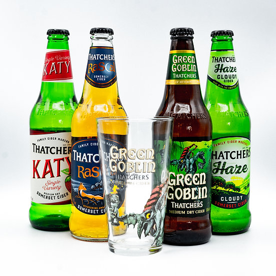 """""""I Think I Cider!"""" -  Thatchers Cider Set mit Glas"""