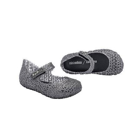 Mini Melissa | Campana Papel | נעלי בובה | כסוף
