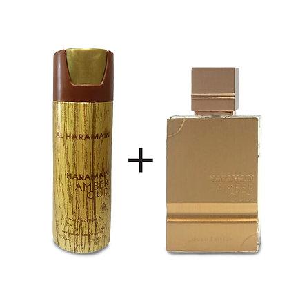Al Haramain   Amber Oud Gold Edition   סט מבושם