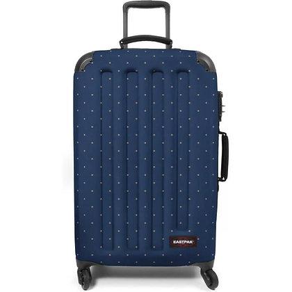 TRANZSHELL M - איסטפק - מזוודה בינונית - כחול מנוקד