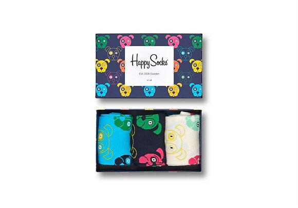 Happy Socks | 36-40 | מארז גרביים | כלבים