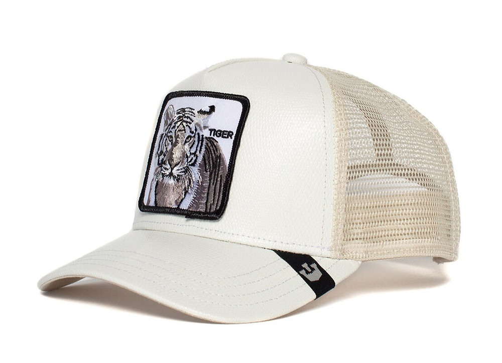 כובע של גורין עם החיה הכי נדירה - טגריס לבן