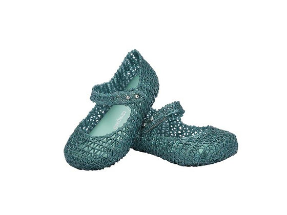 Mini Melissa | Campana Papel | נעלי בובה | ירוק מנצנץ