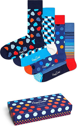 Happy Socks | 41-46 | הפי סוקס | מארז גרביים | חגיגת נייבי