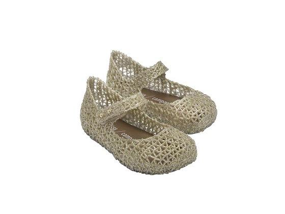 Mini Melissa   Campana Papel   נעלי בובה   זהב