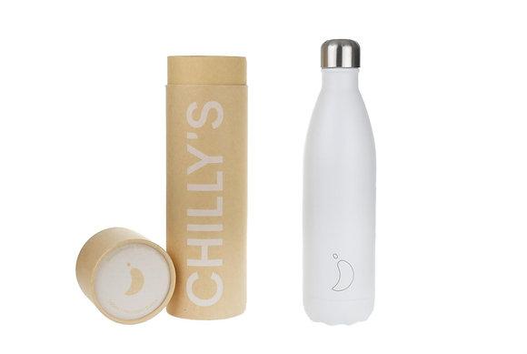 Chilly's | 500ml | בקבוק מים רב פעמי | לבן