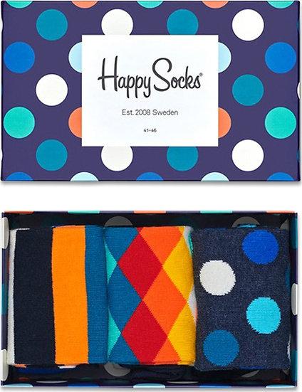 Happy Socks   41-46   מארז גרביים   מיקס קלאסי