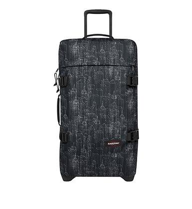 Eastpak | Tranverz M | מזוודה בינונית | בניינים שחור