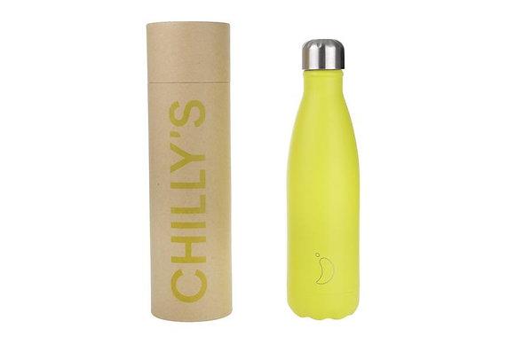Chilly's | 500ml | בקבוק רב פעמי | צהוב ניאון