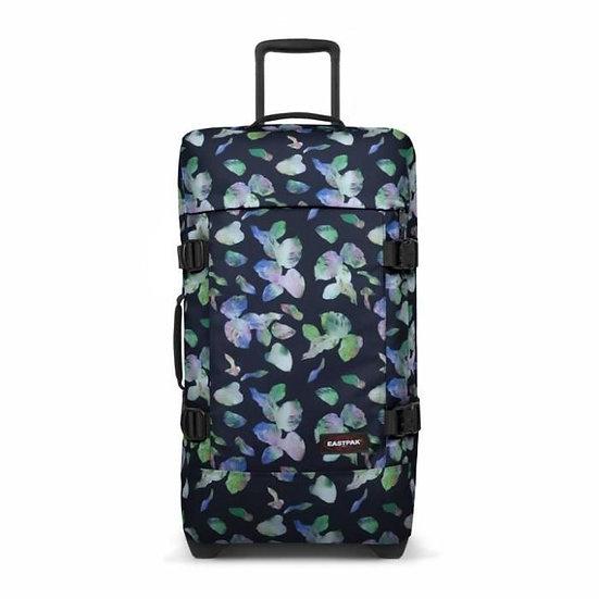Tranverz M - איסטפק - מזוודה בינונית - פרחים נאון