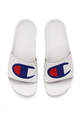 Champion | Slide Classic Logo | כפכפי סלייד צ׳מפיון | לבן