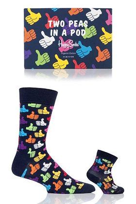 Happy Socks | 2 Peas In a Pod | 41-46 | מארז גרביים