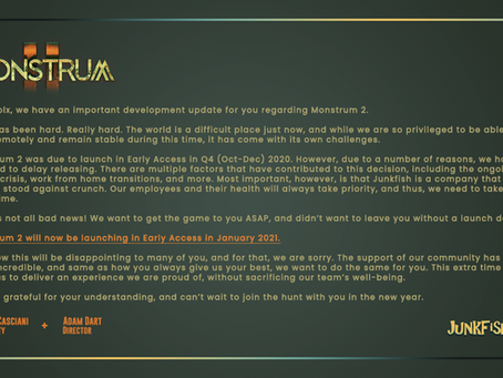 Monstrum 2 - Delay Announcement