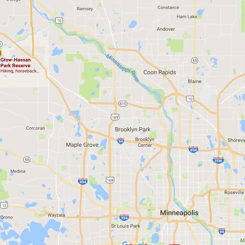Park relative to Minneapolis