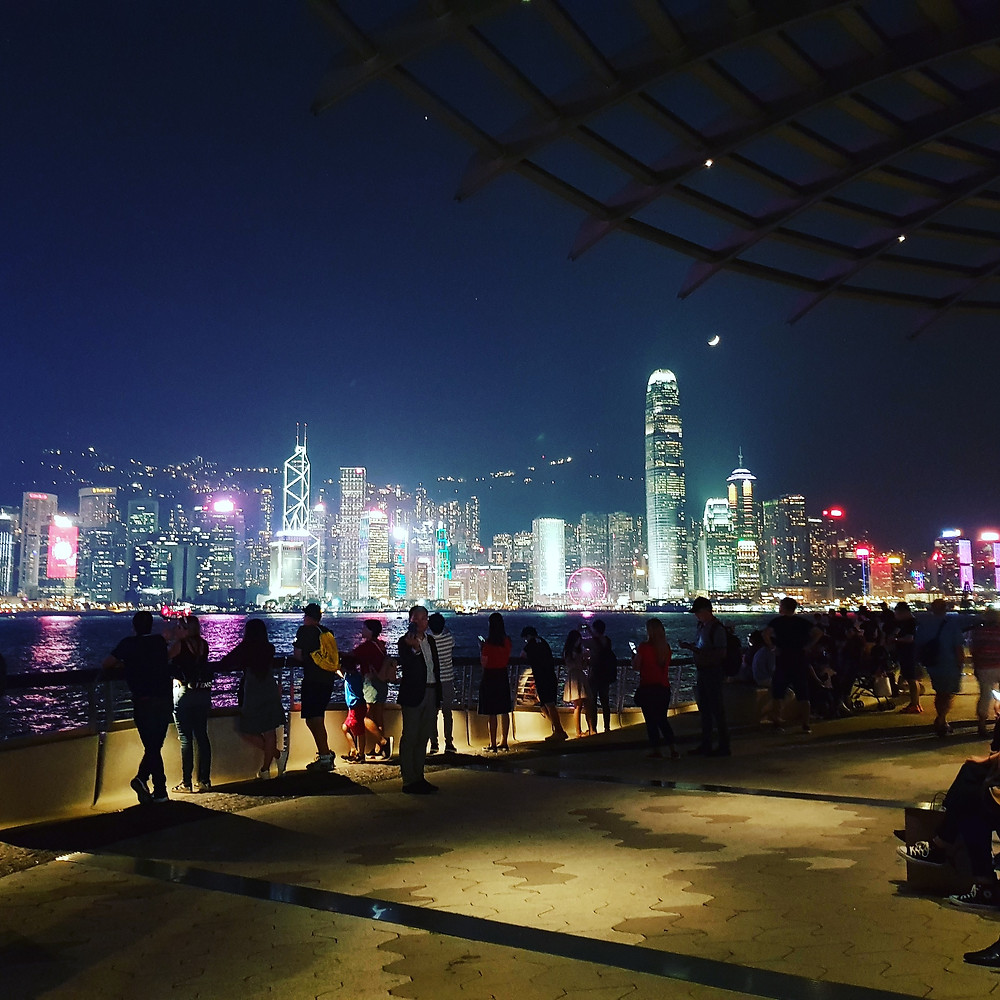 One of the photos I took of Hong Kong's iconic skyline. I honestly think this is the best skyline in the world.