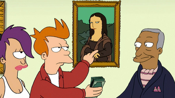 After becoming a billionaire, Fry recklessly spends his money and eventually ends up just as broke as he was a thousand years prior. This is another lesson in itself.