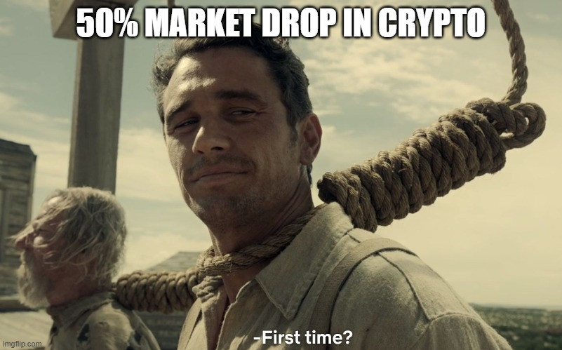 Better get used to the drastic ups and downs of crypto if you intend to stay in the game for the long run.