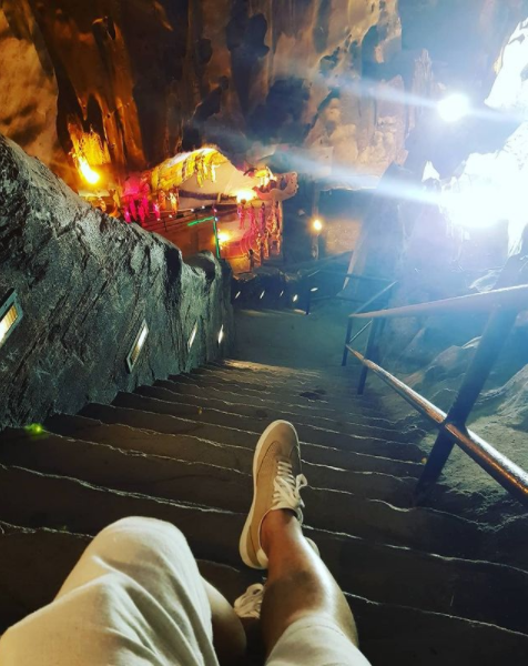 Despite the challenges of the past I've been able to move forward and keep my journey going slowly, but surely. Photo by me in 2018 atop the Batu Caves.