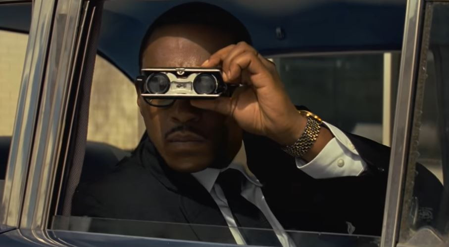 Due to racism and discrimination, Garrett (Anthony Mackie) had to do his property research and scouting from under the radar.