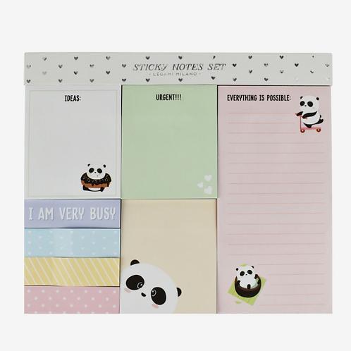 Sticky Note Set Panda – Set di Foglietti Adesivi Legami