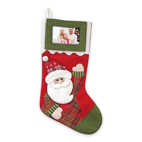 Calza di Natale con Foto – Babbo Natale
