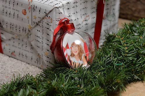 Palla di Natale con 2 foto
