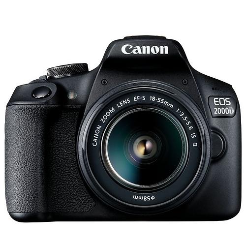 Canon EOS 2000D +18-55 IS II + Borsa + SD16GB