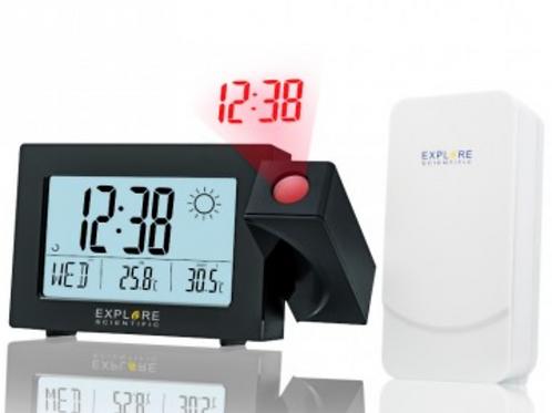 Sveglia Radiocontrollata con Proiezione e Previsioni Meteo Explore Scientific
