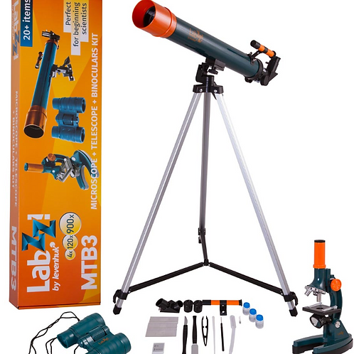 KIT Telescopio, Microscopio e Binocolo LEVENHUK LABZZ MTB3